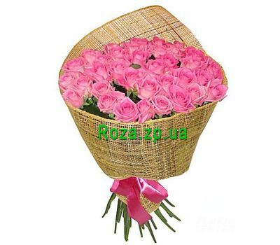 """Bouquet of 35 pink roses"" in the online flower shop roza.zp.ua"