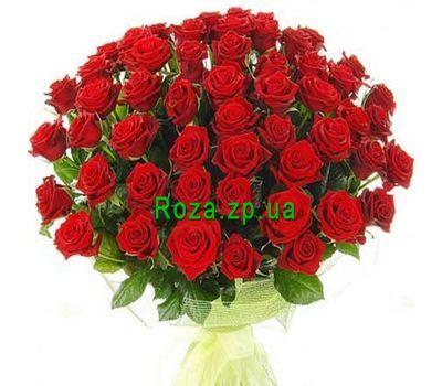 """Bouquet of flowers from 51 red roses"" in the online flower shop roza.zp.ua"