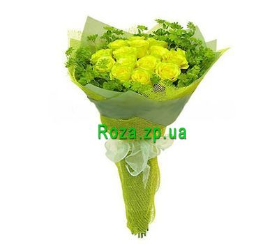 """Bouquet of 15 yellow roses"" in the online flower shop roza.zp.ua"