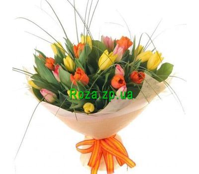 """Bouquet of 29 Tulips"" in the online flower shop roza.zp.ua"