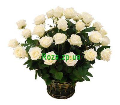"""""""Корзина из 29 белых роз"""" в интернет-магазине цветов roza.zp.ua"""