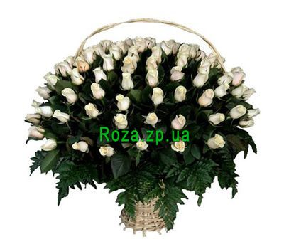 """Basket of 101 imported roses"" in the online flower shop roza.zp.ua"