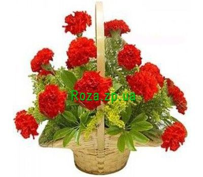 """Basket of flowers from 19 carnations"" in the online flower shop roza.zp.ua"