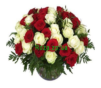 """Basket of 51 roses"" in the online flower shop roza.zp.ua"