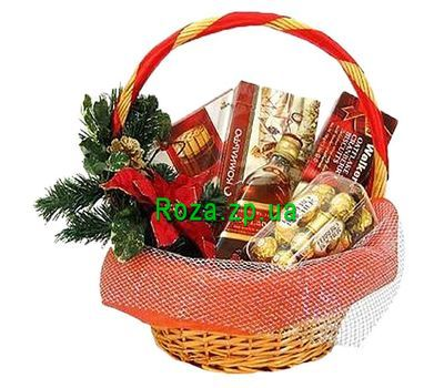 """Cart for the New Year"" in the online flower shop roza.zp.ua"