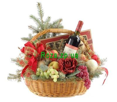 """Basket for the New Year"" in the online flower shop roza.zp.ua"