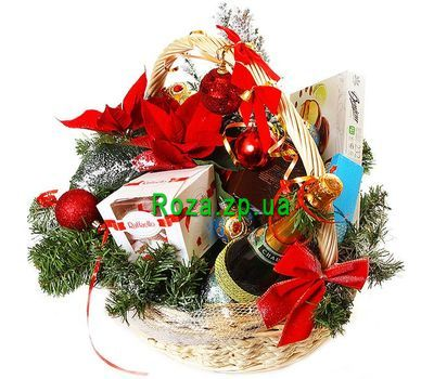 """New Year gift basket"" in the online flower shop roza.zp.ua"