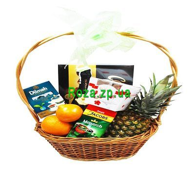"""Gift basket with pineapple"" in the online flower shop roza.zp.ua"