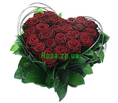 """Heart-shaped composition of 25 red roses"" in the online flower shop roza.zp.ua"