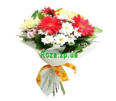 """Bright bouquet of flowers"" in the online flower shop roza.zp.ua"