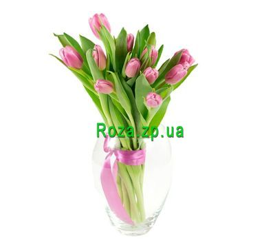 """Bouquet of 13 Tulips"" in the online flower shop roza.zp.ua"