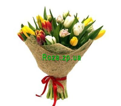 """Bouquet of 19 Tulips"" in the online flower shop roza.zp.ua"