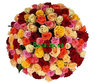 """Multicolored roses per piece"" in the online flower shop roza.zp.ua"