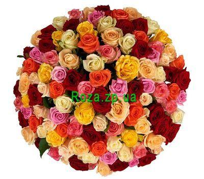 """""""Разноцветные розы поштучно"""" в интернет-магазине цветов roza.zp.ua"""